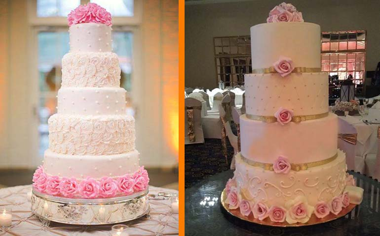 cakes by njs. wedding cake structures
