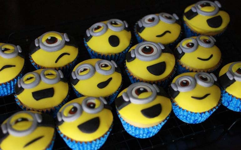 Minion cupcakes from Cakes by Nj's